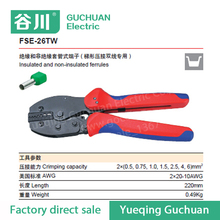 Crimping Tool FSE-26TW Piler Capacity 2x(0.5-6)mm2 2x(20-10)AWG For Insulated and Non-Insulated Ferrules
