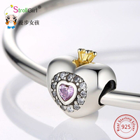 925 Silver Charms Fit Pandora Bracelet DIY Original Silver Jewelry 100 Authentic 925 Sterling Silver Heart