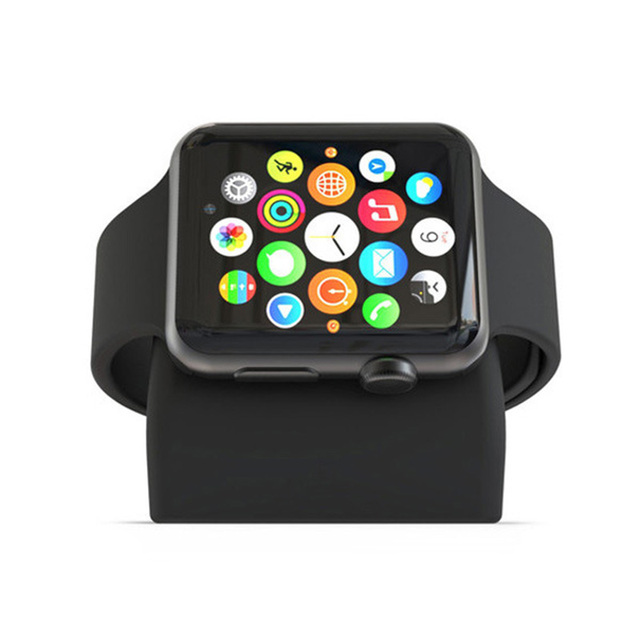 Silicone Charging Stand Holder for Apple Watch Stand Dock Holder for iWatch 38mm 40mm 3 Color