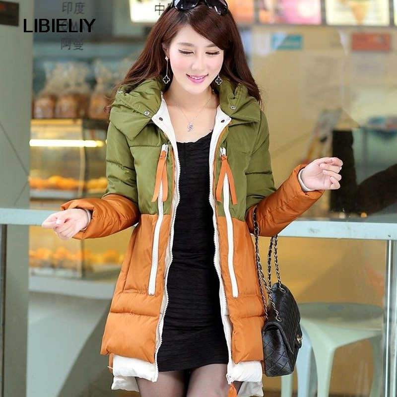 Nice New Fashion Winter Women Cotton-padded Coat Medium-Long Loose Thick  Female Jacket Women Warm Large Size Jacket AW1152 2017 winter classic fashion fur hoodie coat jacket women thick warm long sleeve cotton coats student medium long loose overcoat