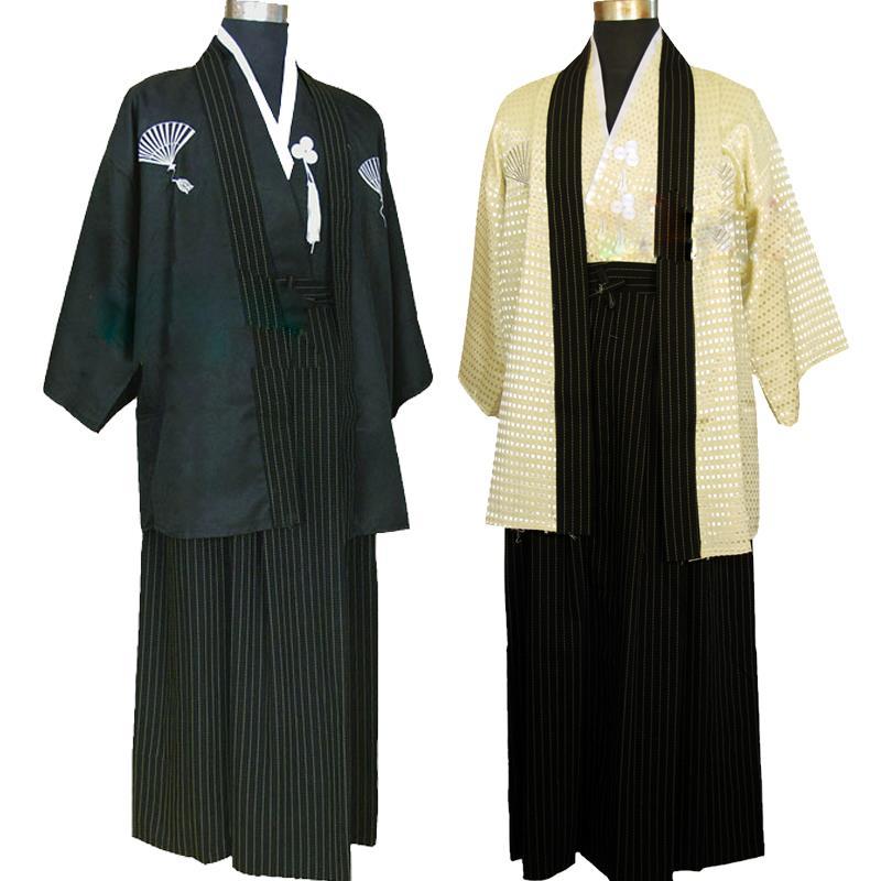 Free shipping mans ninja naruto kimono traditional japanese samurai Warrior Kimono Yukata men cosplay costume clothing set