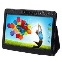 El color blanco y negro funda de piel para 10 pulgadas tablet de nuestra tienda (Quad core 2 GB 16 GB Tablet pc)