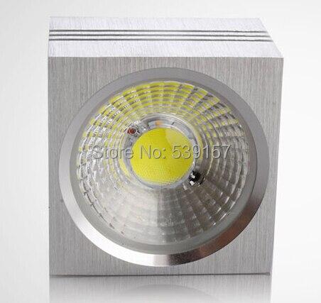 Оптовая цена COB 15 Вт площади утопила потолочный светильник AC85-265V CE/RoHS холодной/теплый белый (золото/серебро/черный В виде ракушки)