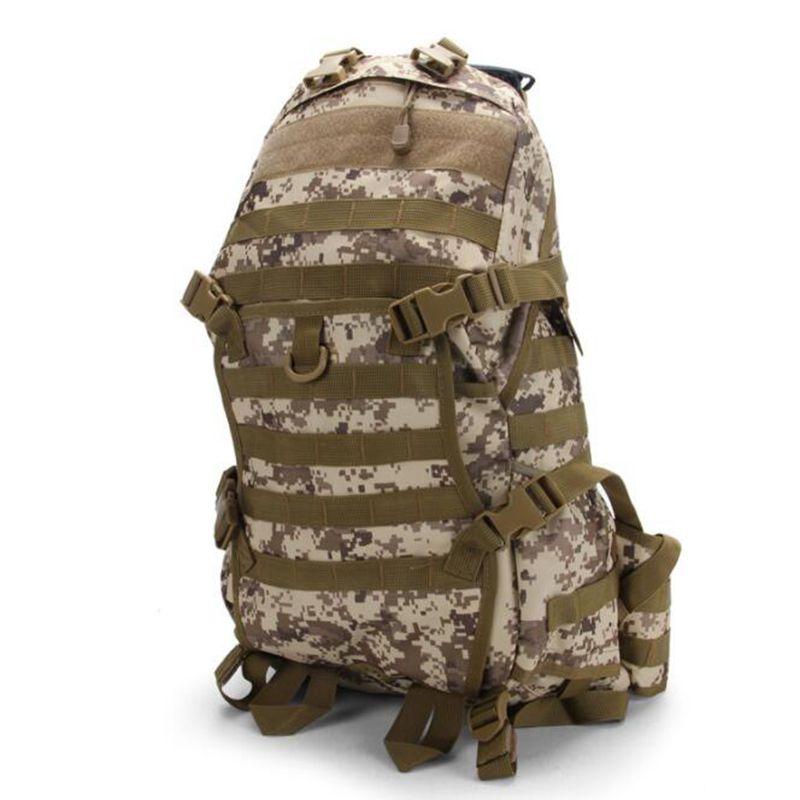 Chaud! 55L hommes femmes en plein air militaire armée tactique sac à dos Trekking Sport voyage sacs à dos Camping randonnée Trekking Camouflage sac