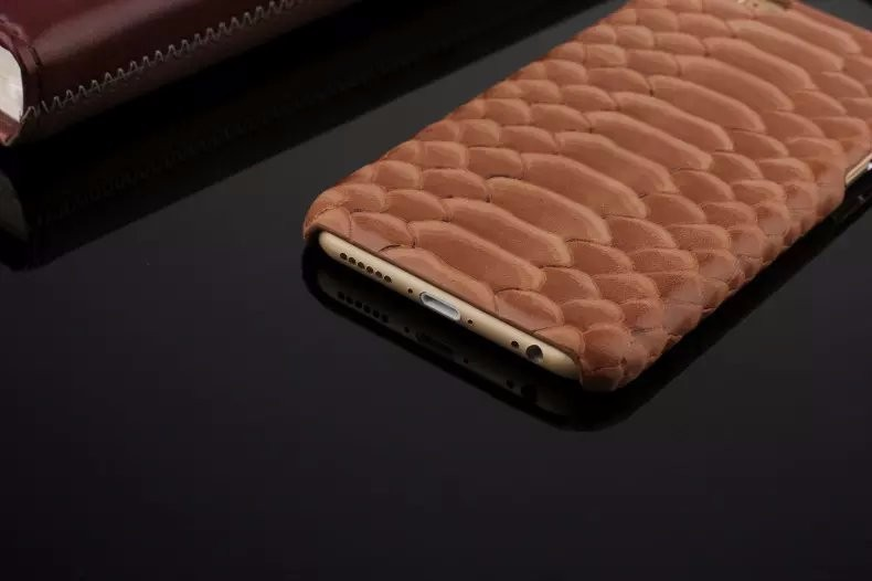 Luxury snake pattern genuine leather case for iPhone6 iPhone 6 Plus smartphone