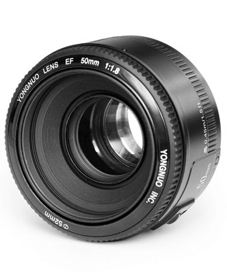 READY STOCK! Original YONGNUO YN 50mm/f1.8 Standard Prime Large Aperture Auto Focus AF/MF Lens for Canon EOS DSLR Camera