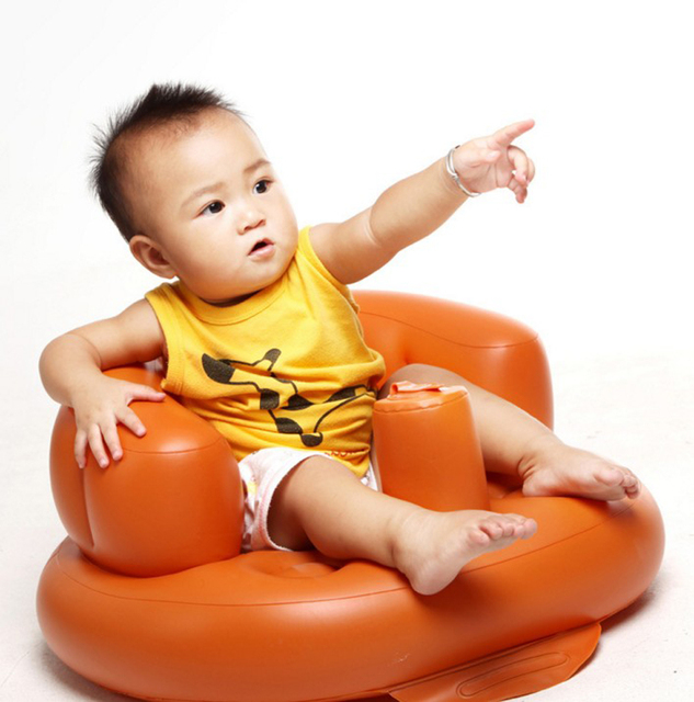 Inflatable Chair Portable Sofa Multifunctional Baby Learn Feeding ...