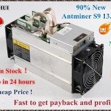 Б/у AntMiner S9 13,5 T Биткоин Майнер Asic Майнер 16nm Btc BCH Майнер Биткоин Майнер лучше чем Whatsminer M3