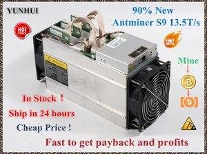 Utilizzato AntMiner S9 13.5T Bitcoin Minatore Asic Minatore 16nm Btc BCH Minatore Bitcoin Macchina Mineraria Meglio di Whatsminer M3(China)