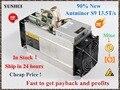 Gebruikt AntMiner S9 13.5T Bitcoin Mijnwerker Asic Mijnwerker 16nm Btc BCH Miner Bitcoin Mining Machine Beter Dan Whatsminer M3