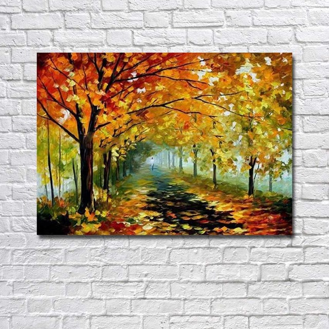 Atfart Living Room Hall Wall Art Handmade Landscape Oil: Aliexpress.com : Buy Large Wall Pictures For Living Room