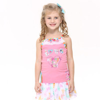 Children Bbay Girl Tanks 2016 New Nova Kids Pink Color Love Princess Girl Tanks Cheap Sale