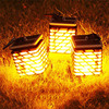 High Quality 90mm 90mm 138 2mm OUTDOOR Waterproof Solar Landscape Lights Candle Flame Lights