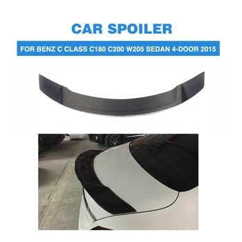 For Benz W205 C180 C200 C250 C300 C400 C450 C63 AMG Sedan 4 Door 2015 2016 2017 Carbon Fiber / FRP Rear Spoiler Trunk Wing Lip