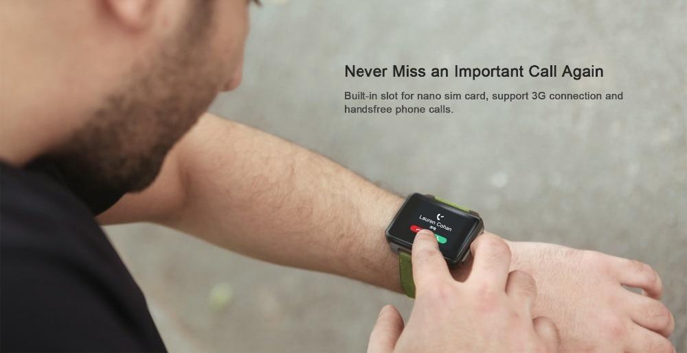 Torntisc DM99 Android Smart Watch Phone 1GB 16GB Big Screen 1200 Mah Battery 130W Camera Support GPS WiFi Nano SIM card MP4 Take Video 3G Smartwatch (11)