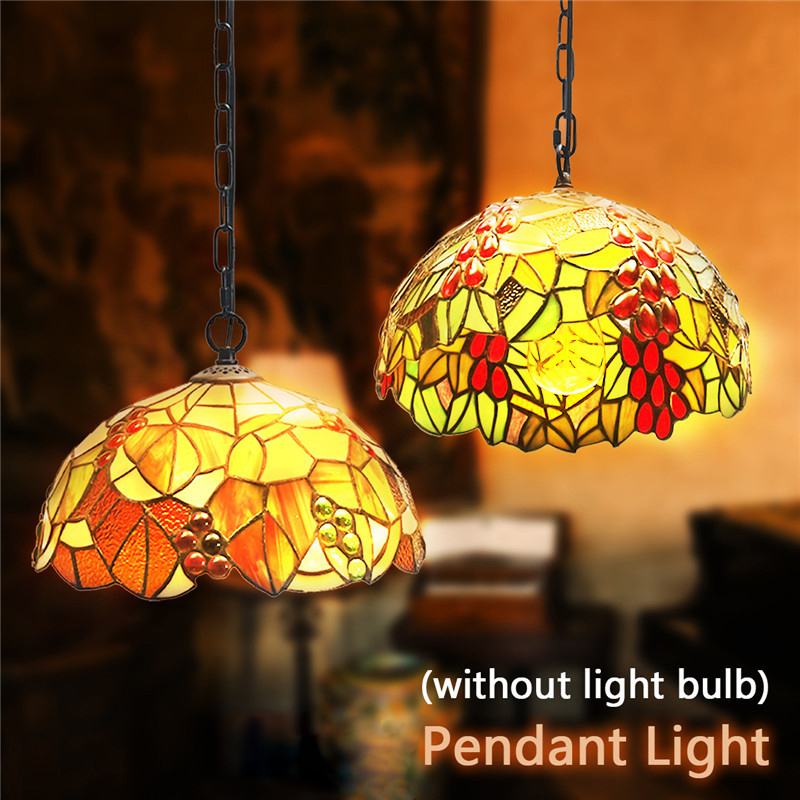 Smuxi Baroque Style Stained Glass Suspended Luminaire E27 Chain Pendant lights Lighting Lamps For Home Parlor Dining Room fumat stained glass pendant lamps european style glass lamp for living room dining room baroque glass art pendant lights led