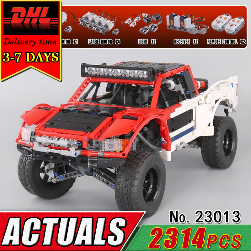 DHL Lepin 23013 Technic Series Remote Control Off-Road Car Compatible Electric Building Blocks RC Car Bricks Toy Children Gift compatible legoinglys technic series class sports car f40 1158pcs elementary education building blocks toy for children gift