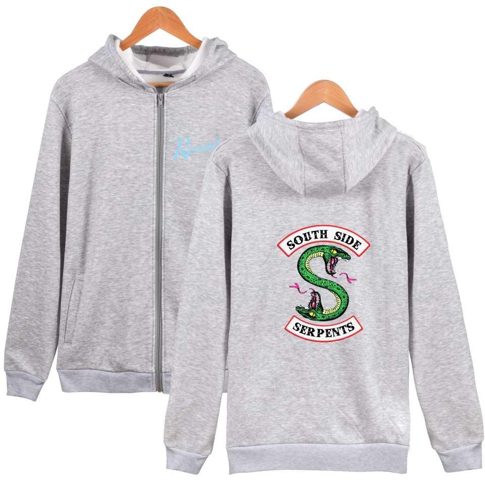 WEJNXIN Riverdale American TV Zipper Sweatshirts Fashion South Side Hoodies For Women Men Fans Casual Moleton Feminino