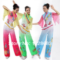 Antiga tradicional Plus Size vestido chinês Yangko traje de dança / Folk traje de dança / ventilador trajes de dança