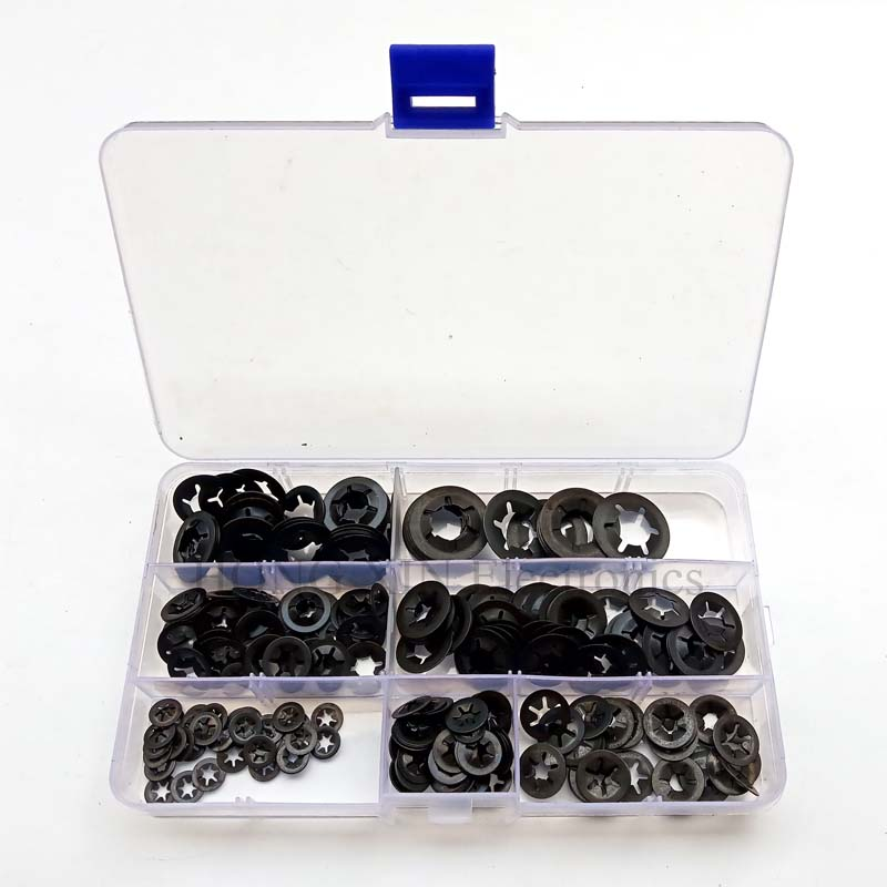 280Pcs Internal Tooth Starlock Push On Locking Washers Speed Clips Fasteners Assortment Kit Washers Quick Speed Locking Washers280Pcs Internal Tooth Starlock Push On Locking Washers Speed Clips Fasteners Assortment Kit Washers Quick Speed Locking Washers
