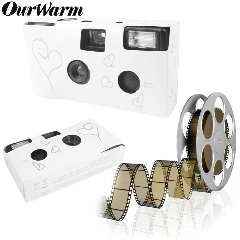 OurWarm 5 ชิ้น 36 รูปภาพ Power แฟลช HD เดี่ยวใช้เวลาทิ้งฟิล์มกล้อง Party ของขวัญงานแต่งงานวันเกิดโปรดปราน