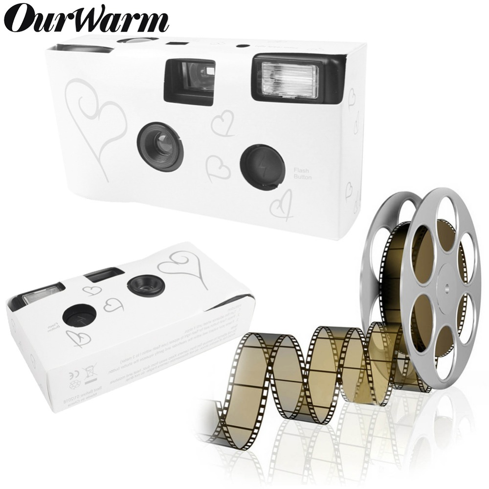 OurWarm 5 pcs 36 Photos Puissance Flash HD à Usage Unique Une Fois Jetables Film Caméra Partie Cadeau D'anniversaire De Noce faveur
