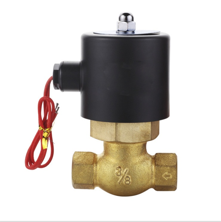 3/8  High Temperature Solenoid Valve (US Series)  Normally closed   2L-10 2 3way 3v310 10 inner guide single head solenoid valve 3 8 china factory 3v series solenoid valve3v310 10
