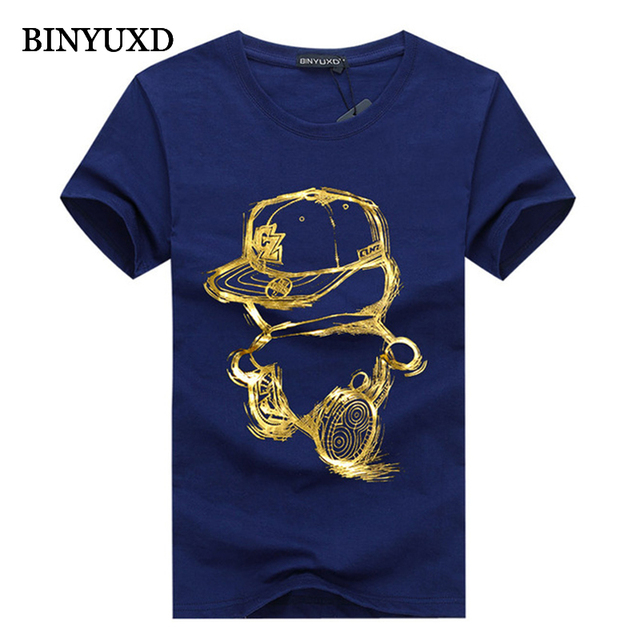 BINYUXD cotton 3DT-shirts men 2016 summer  funny teenage man's print T-shirt extended plus size 4XL 5XL white black red