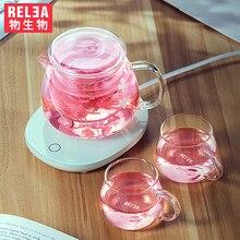 Handcraft Teapot Heat Resistant Glass jug glass filter Electric constant temperature heater Kettle cups combo