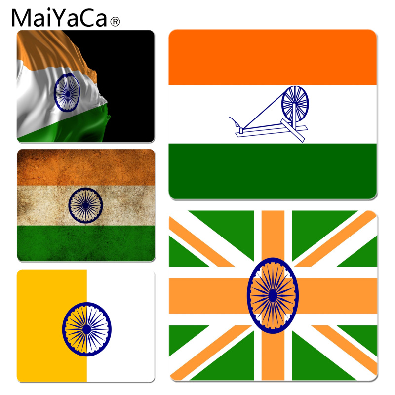 MaiYaCa Нескользящие ПК индии флаг геймер играть коврики коврик Размеры для 18x22 см 25x29 см резиновые для мышей