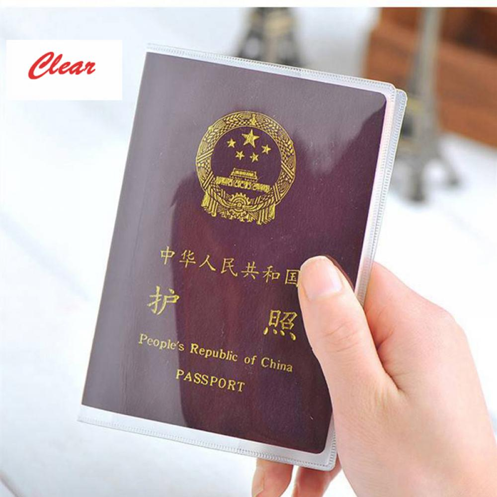 Grind Silicone Transparent Passport Cover Waterproof Dirt PVC ID Card Holders Passports Bag Protective Sleeve 9x 12.5CM