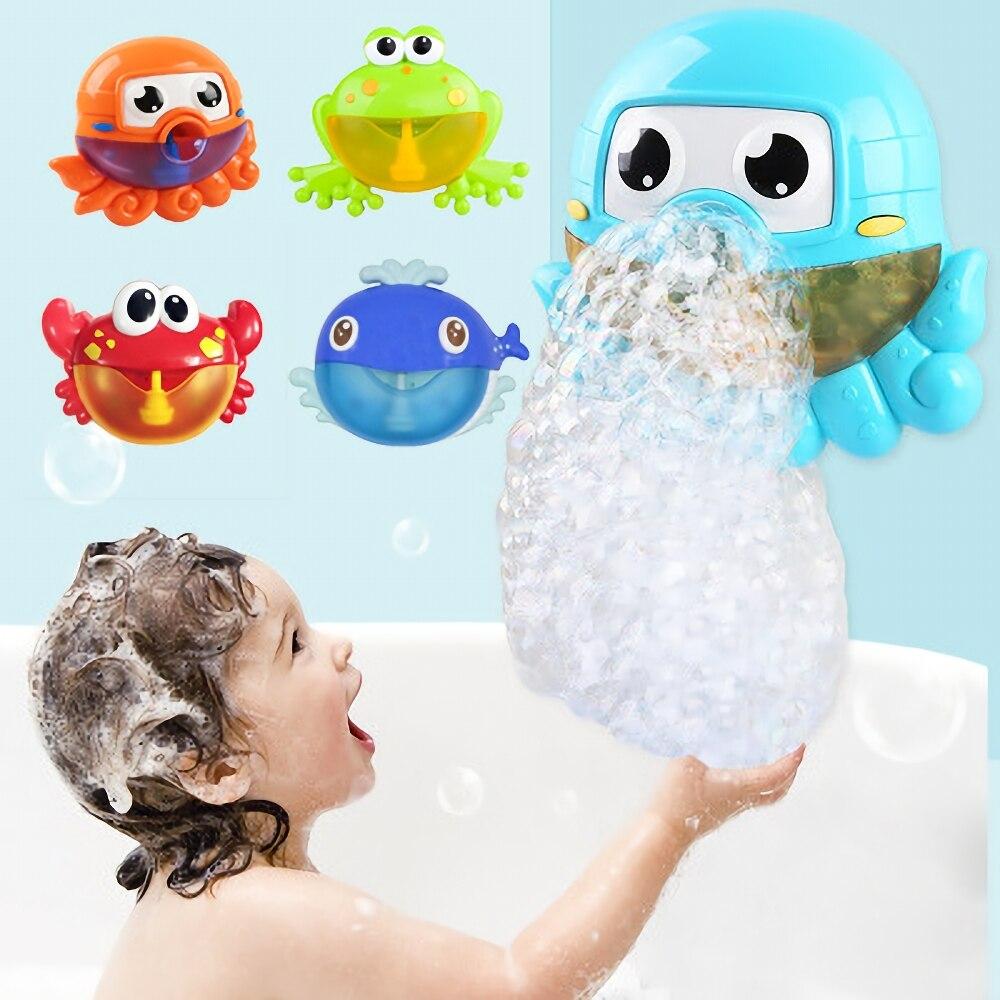 Animal Bubble Machine Bathroom Toy Boy & Girl Bubble Gun Baby & Toddler Toys Baby Newborn Gift Water Games Kids Toys & Hobbies