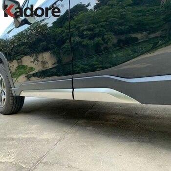 ل سوبارو فورستر SK 2018 2019 2020 الفولاذ المقاوم للصدأ باب جانبي خط مقبلات الجسم تقليم صب غطاء الحافة التصميم حامي