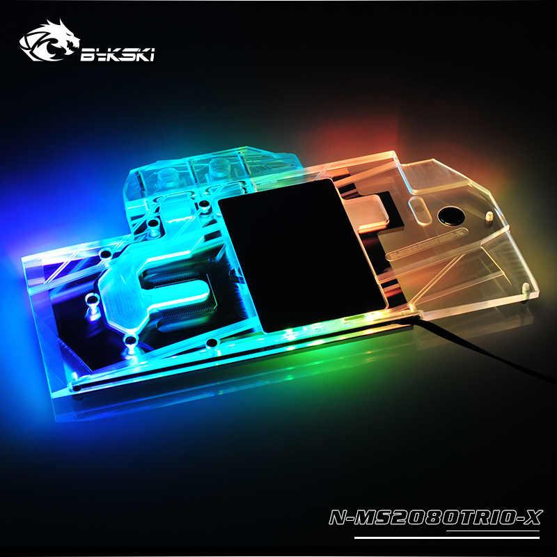 Bykski bloque de agua uso para MSI GeForce RTX 2080 Gaming X trío 8 GB/de la cubierta completa de bloque para radiador/3PIN 5 V/RGB/4PIN 12V RGB
