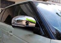 랜드 로버 디스커버리 4 LR4 2010-2015 크롬 후면보기 미러 장식 커버 트림 자동차 스타일링