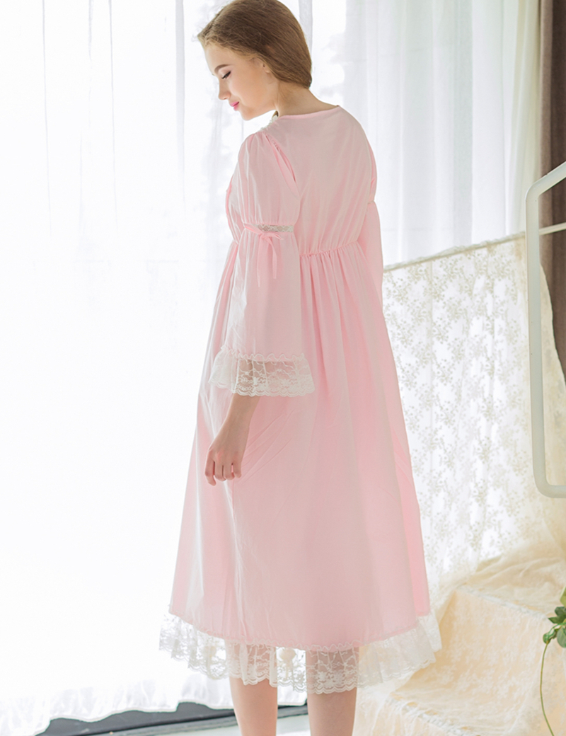 Women Clothing Sleeping Dress Casual Dressing Gowns For Lady Round ...