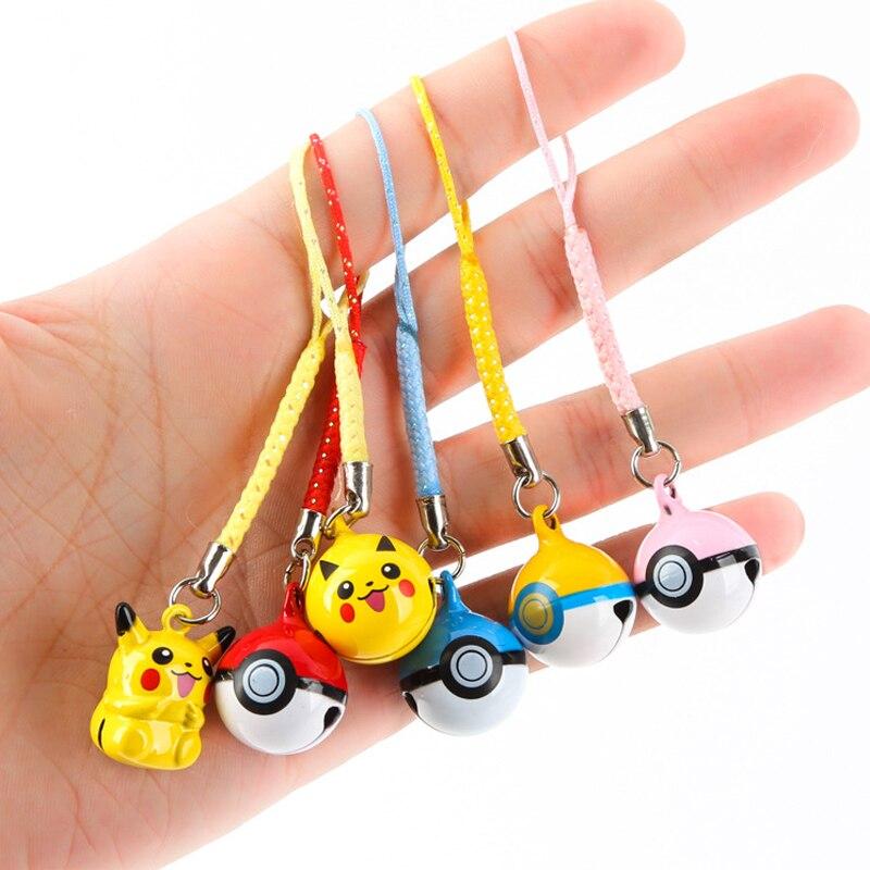 Märke Miniklockor Pikachu Nyckelringar Hängsmycke Nyckel - Toy figuriner