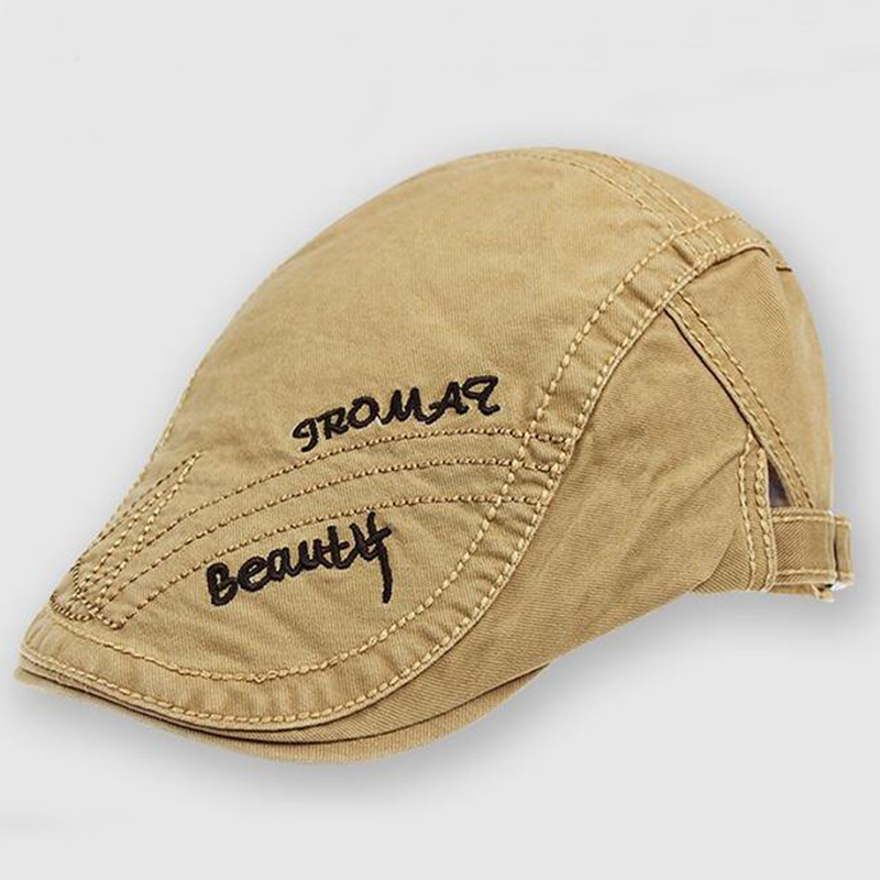 Fashion Vintage Solid Letter Cotton beret Visors Hats Caps For Men Women Spring napback Hats 2018 New Brand Apparel Accessories in Men 39 s Visors from Apparel Accessories