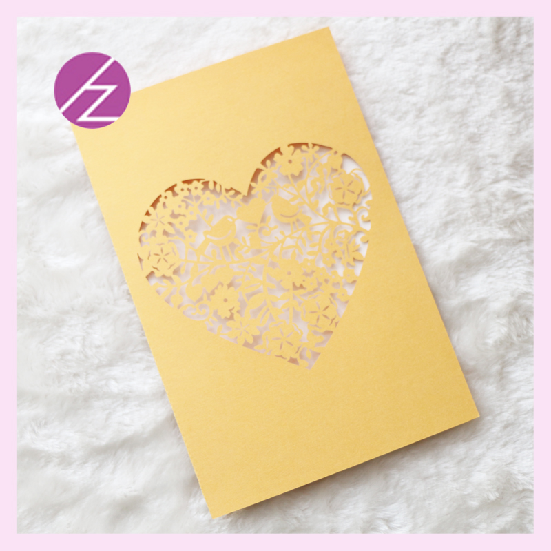 Free Shipping Embossed flowers love heart Design Gold custom acrylic ...