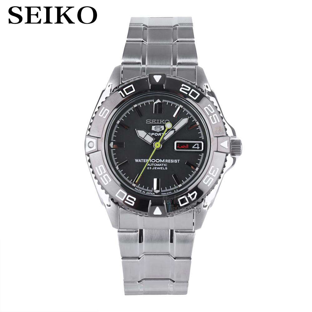 seiko watch men 5 automatic watch Luxury Brand Waterproof Sport Wrist Watch Date mens watches diving watch relogio masculin snzb(China)