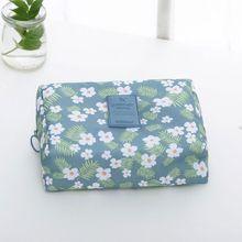 все цены на High Quality Women Floral Waterproof Toiletry Holder Cosmetic Makeup Pouch Pencil Case Bag Purse Organizer онлайн