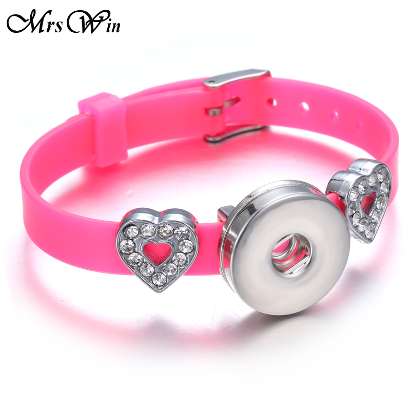 Snap Jewelry Leather Snap Bracelet Black Pink Light Blue Gold Adjustable Fits 18mm Interchangeable Button Jewelry Comes with Random Mix of 10 Buttons