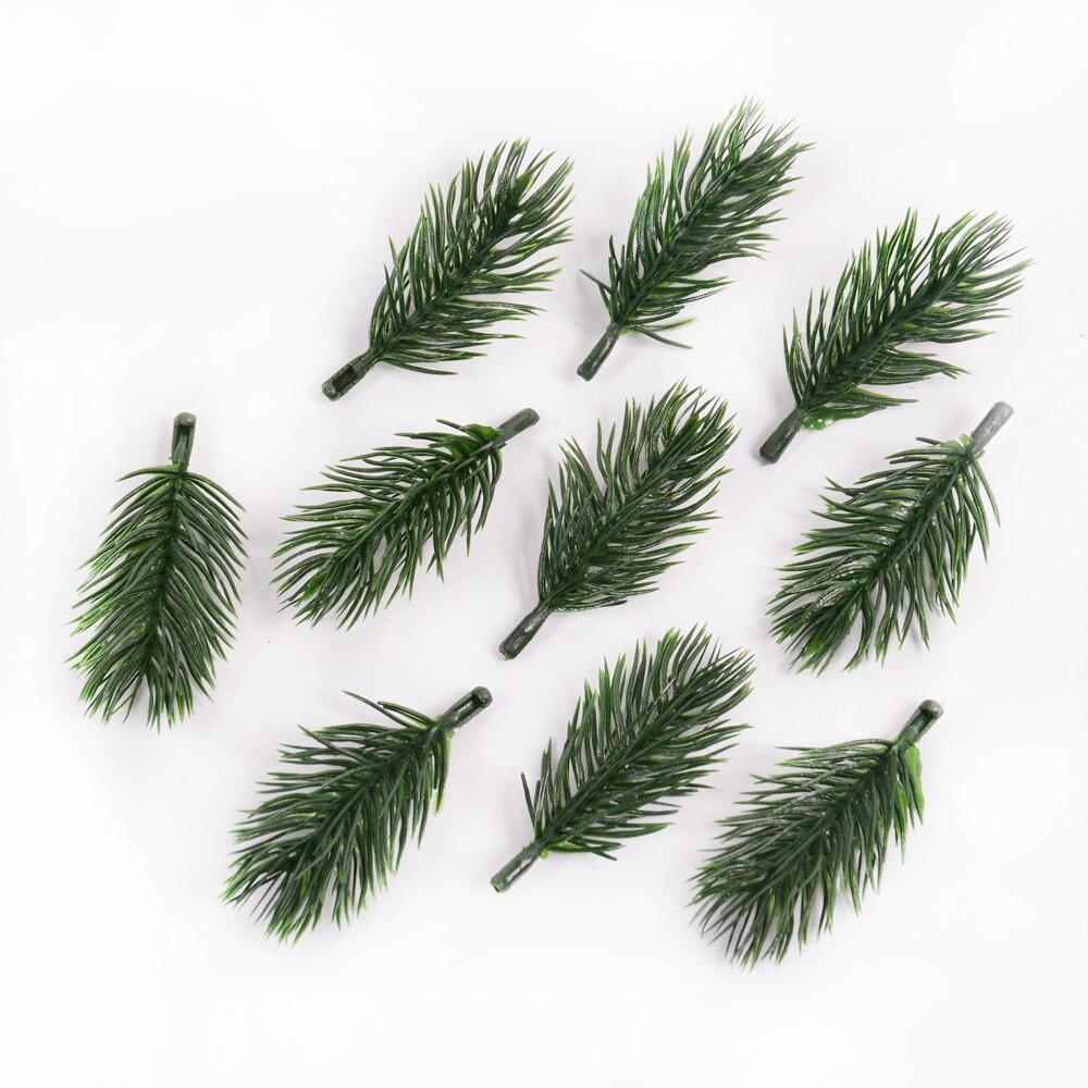 10 шт. сосновая игла искусственное растение искусственный цветок ветка для рождественской елки украшения аксессуары самодельный букет подарочная коробка