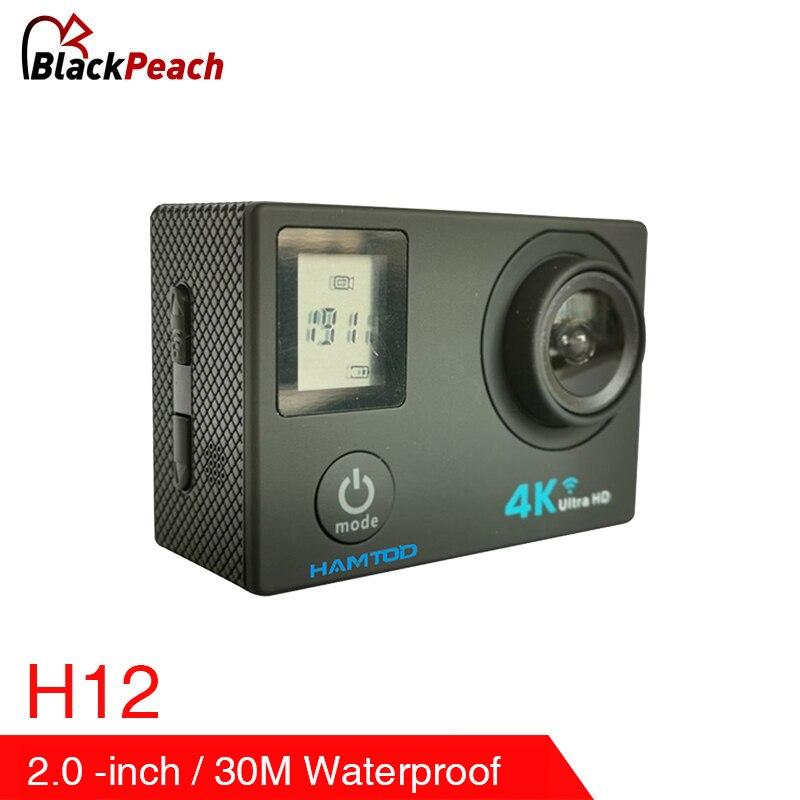 Sport & Action-videokamera Zielsetzung Hamtod H12 2,0 Inch Lcd 4 K Ultra Hd Wifi Action Kamera Unterstützung Wifi Sport Kamera Wasserdichte Gc1034 120 Grad Kamera Wifi Kamera