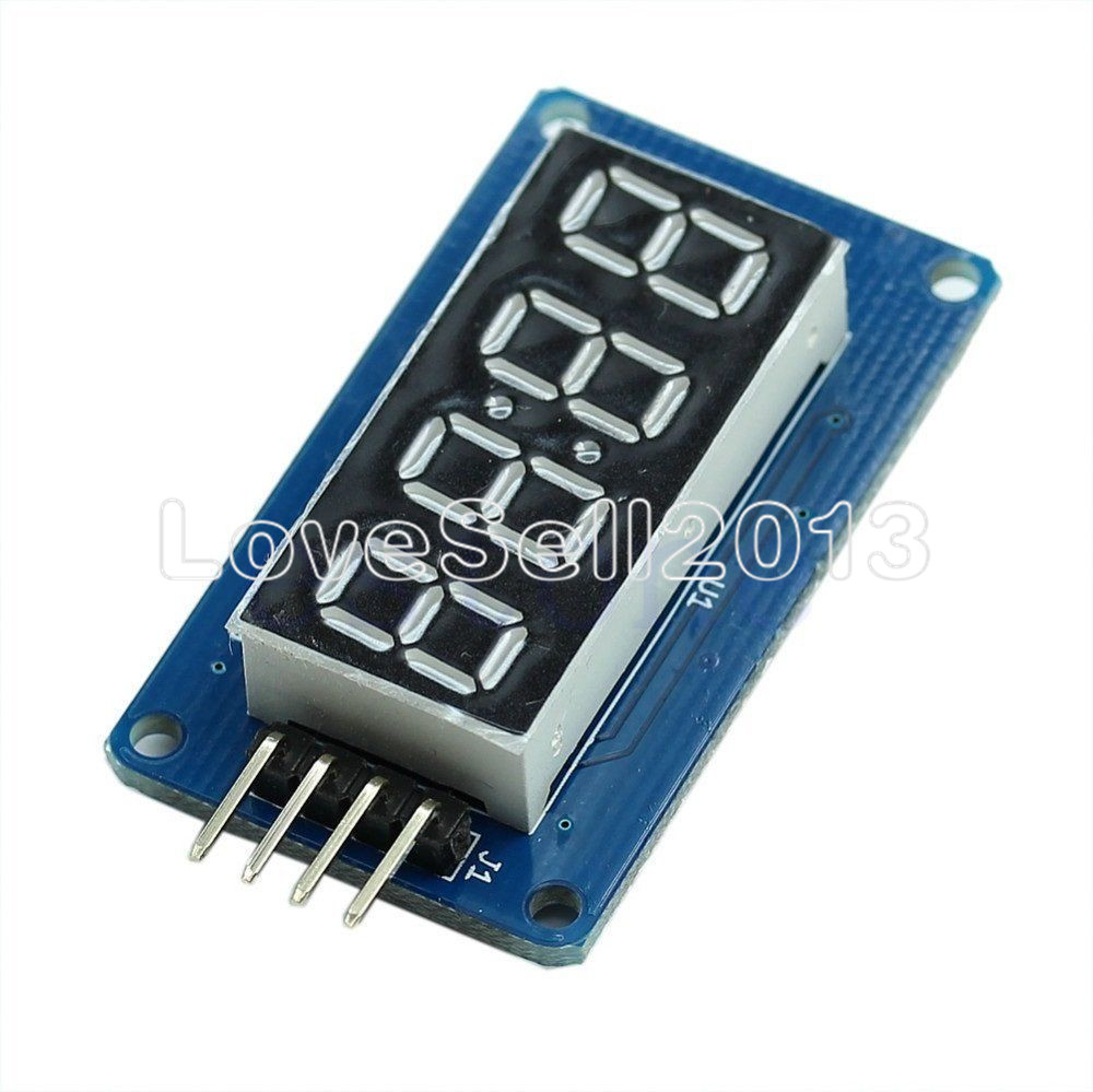 2Pcs TM1637 <font><b>LED</b></font> Display Module <font><b>7</b></font> <font><b>Segment</b></font> <font><b>4</b></font> <font><b>Bits</b></font> 0.36Inch Clock RED Anode Digital Tube Four Serial Driver Board Pack For Arduino image