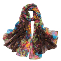 SAF-Women's Spring  Autumn Fashion Brown Soft Big Long Scarf Vintage Printing Scarves 160*50cm