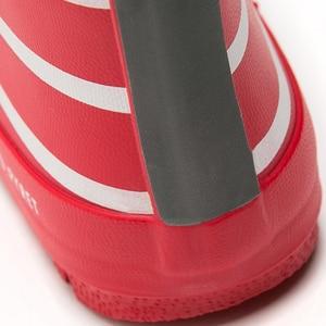 Image 4 - Botas de chuva, novas botas com listras para crianças, meninos e meninas, cano médio, à prova d água, antiderrapante, de borracha escola menino menina vermelho
