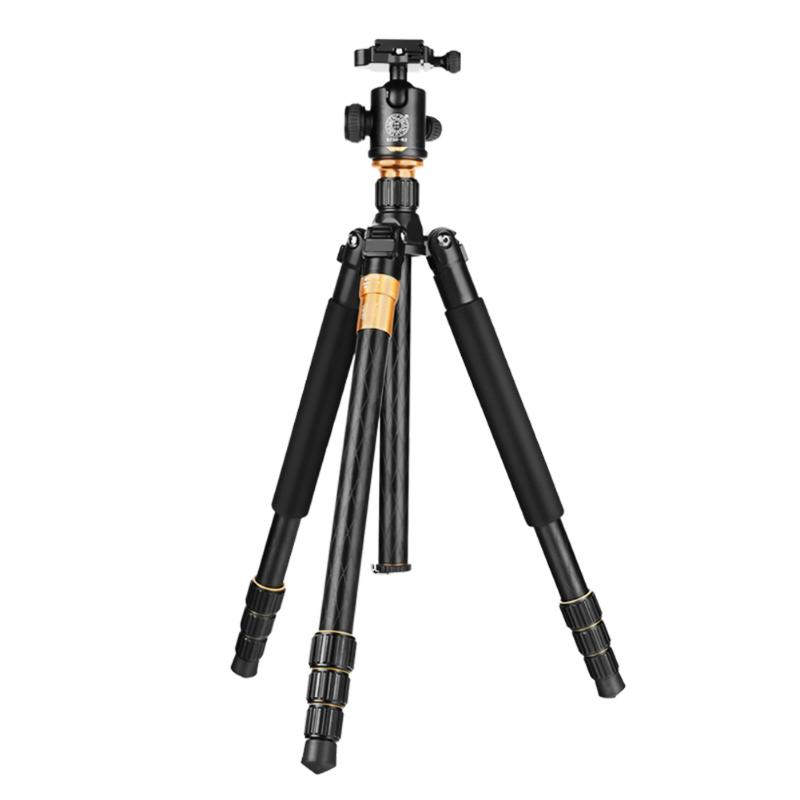 Portable Professional Photographic Camcorder Video Camera Tripod Stand Holder Aluminum Tripod + Ball Head + Hexagon Nut diat a193l aluminum heavy duty fluid head camera tripod for camcorder dslr stand professional video tripod