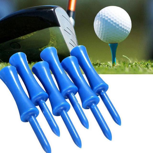 חדש 50 pcs גבוהה באיכות כחול פלסטיק גולף טי צעד למטה בוגר טירה טי בקרת גובה 68mm עבור גולף אבזרים