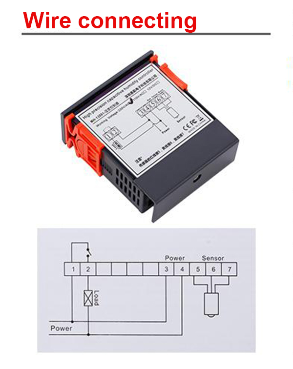 10A AC220V/110V Digital Humidity Controller Hygrometer Controller Humidity Sensor Humidification Dehumidification Machine
